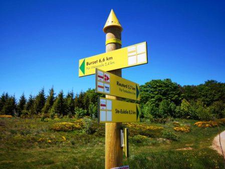Le balisage des sentiers de randonnées