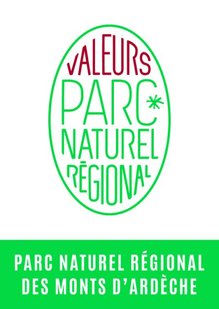 La marque ''Valeurs du Parc '' des monts d'Ardèche pour l'agence Massif Central Randonnées+